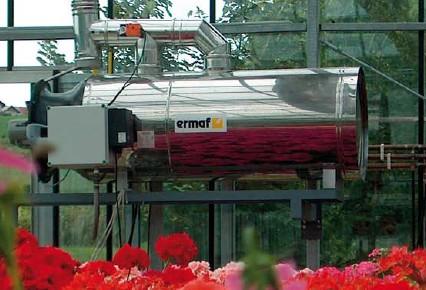 Cañones de aire caliente ERMAF para agricultura y horticultura