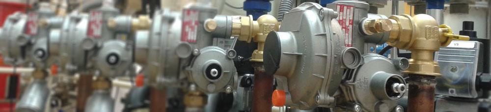 Reguladores presión de gas banco armarios de regulación Kromschroeder