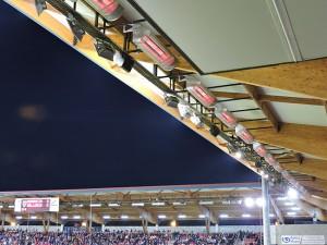 """Sistema de calefacción por radiación destinado a atemperar todos los asientos de las gradas del estadio de """"Los Pajaritos"""" –  CD Numancia"""
