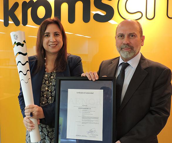 Certificado AENOR antorcha RIO2016